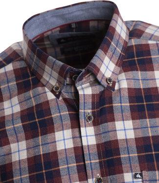 FORMEN overhemd met mooie ruiten in blauw en bordeaux