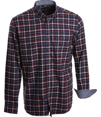 FORMEN winterhemd met ruit in blauw, rood en wit
