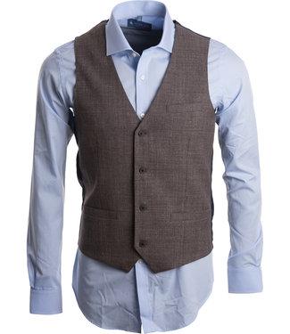 FORMEN jacket in linnen look taupe