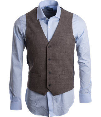 FORMEN trendy ondervestje met linnen look in donker beige