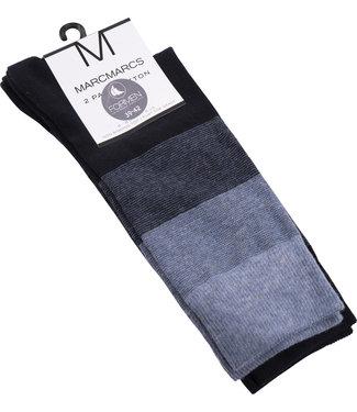 FORMEN blauw gestreepte sokken - 2 paar