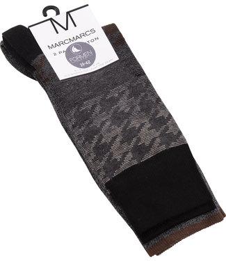 FORMEN bruin fantasie sokken - 2 paar