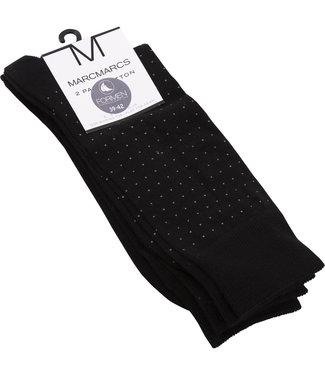FORMEN zwart sokken met stipje - 2 paar