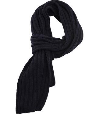 FORMEN sjaal met rib in donkerblauw