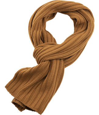 FORMEN sjaal met rib in oker