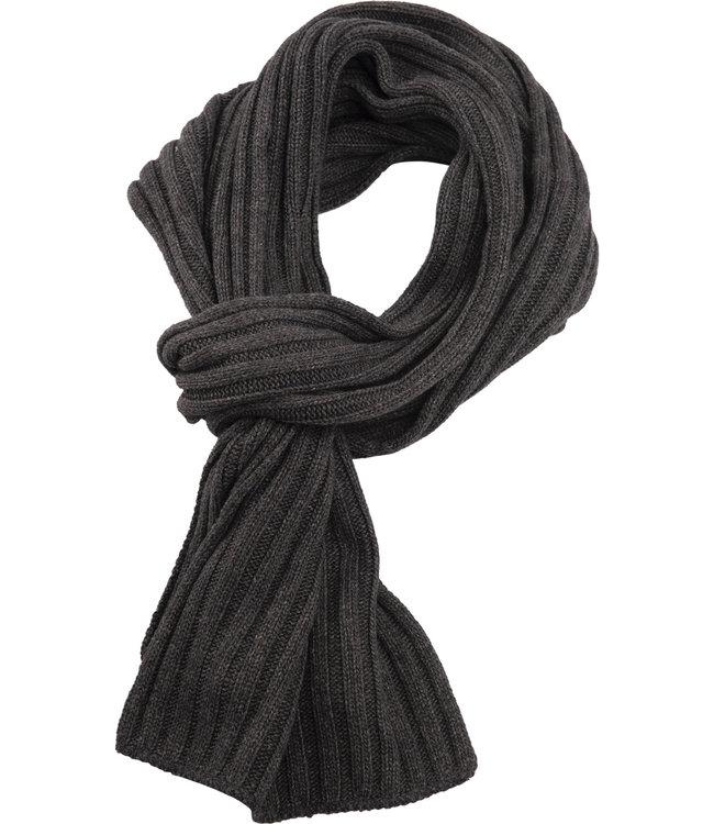 FORMEN sjaal met rib in donker grijs