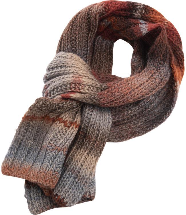 FORMEN sjaal gestreept met mooie herfstkleuren