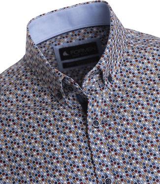 FORMEN shirt met honingraat print