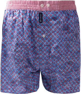 FORMEN boxershort blauw met rode cirkels