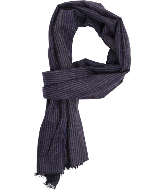 FORMEN Sjaal met fijne streep blauw-beige