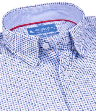 FORMEN stijlvol hemd met oker accent - SLIM