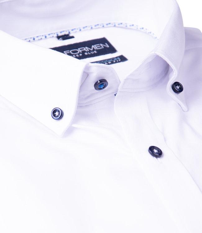 FORMEN effen wit hemd