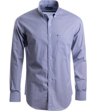 FORMEN SLIM fit hemd met geometrische print