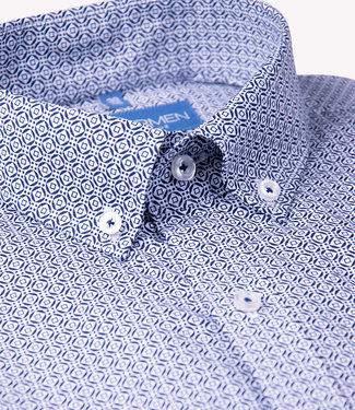 FORMEN strak hemd met geometrische print