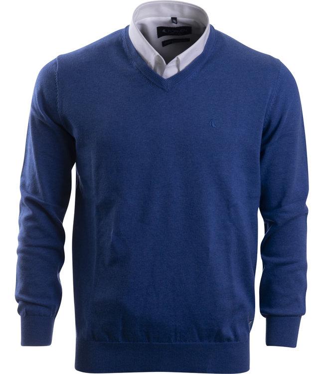 FORMEN sportieve trui in jeansblauw