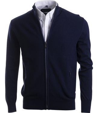 FORMEN marineblauw sportief vest met rits