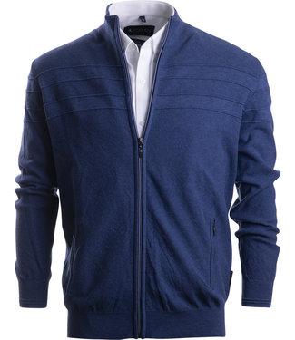 FORMEN jeansblauw vest met horizontale streep