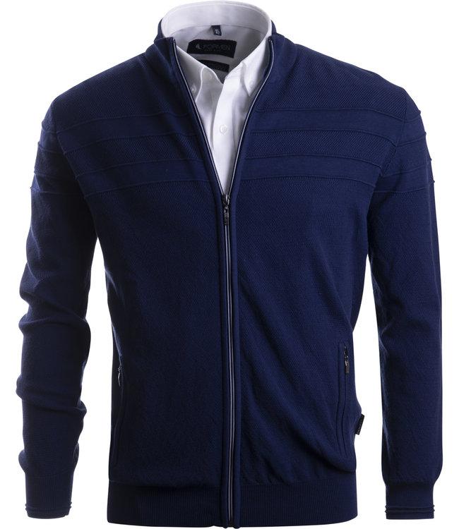 FORMEN navy vest met horizontale streep