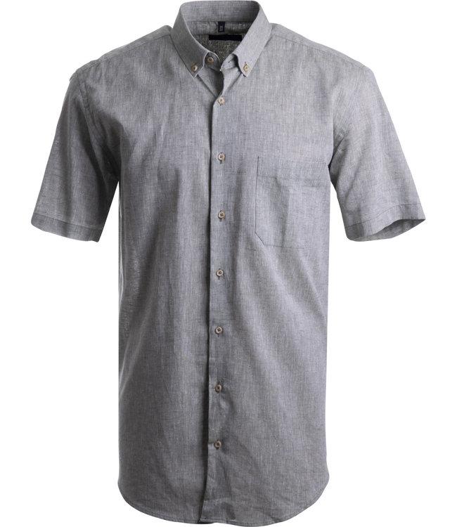 FORMEN linnen kakigroen hemd