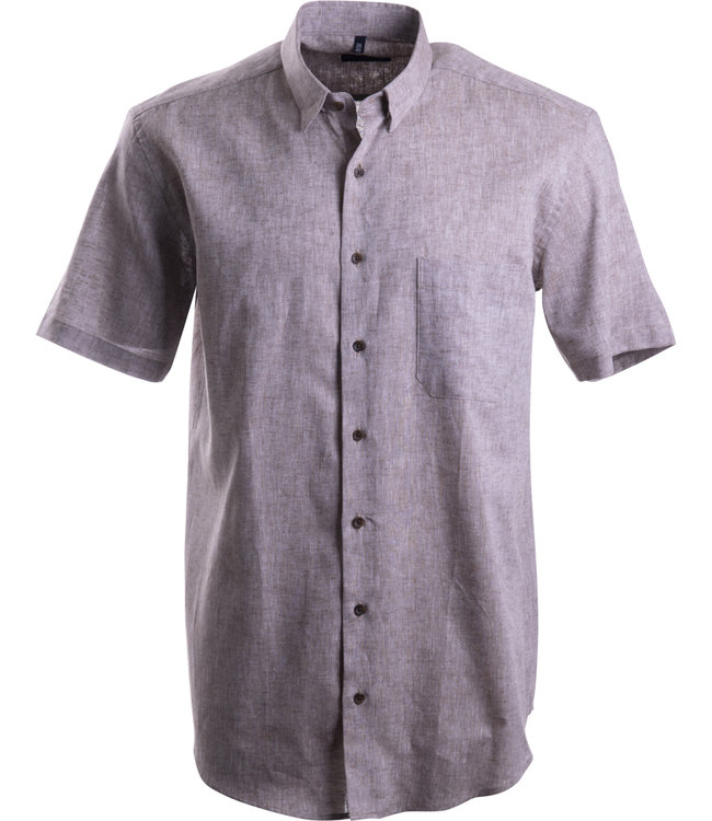 FORMEN linnen hemd in natural taupe