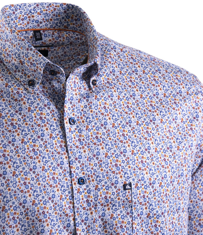 FORMEN fleurig hemd met kleurrijk motief