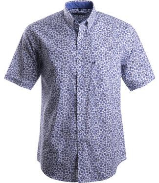 FORMEN blauw hemd met maritiem motief
