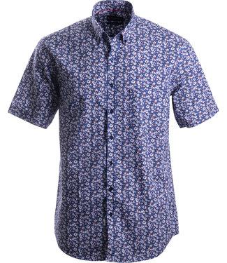 FORMEN blauw hemd met bloemen motief
