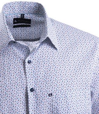 FORMEN wit hemd met turquoise motief