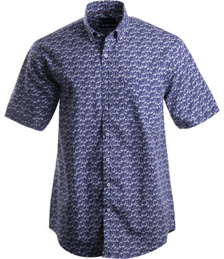 FORMEN donkerblauw hemd met flamingo's