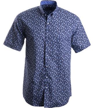 FORMEN hemd met blauw floraal motief