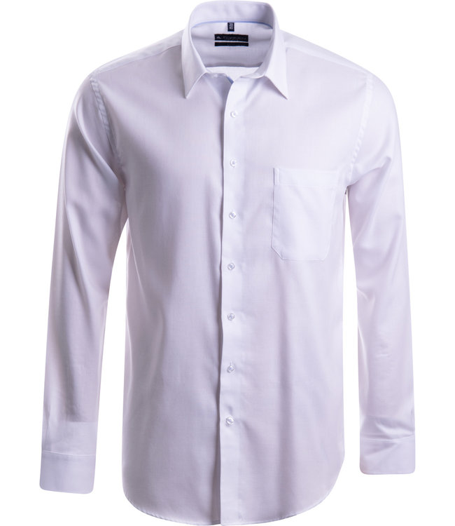 FORMEN stijlvol effen wit hemd