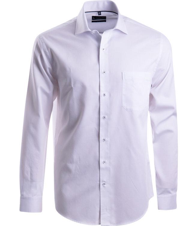FORMEN kraaknet wit hemd met Italiaanse kraag