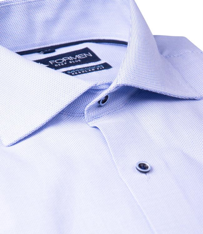 FORMEN woven lichtblauw overhemd