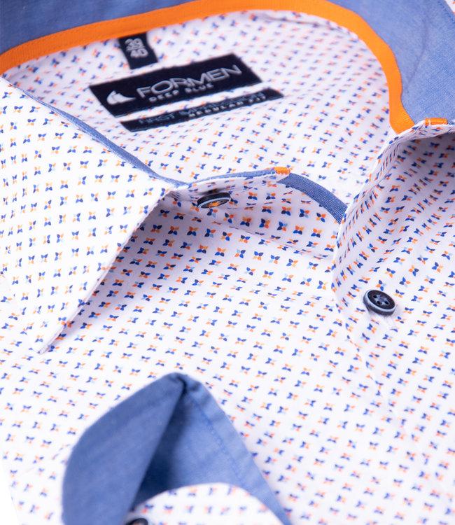 FORMEN hemd met oranje accent