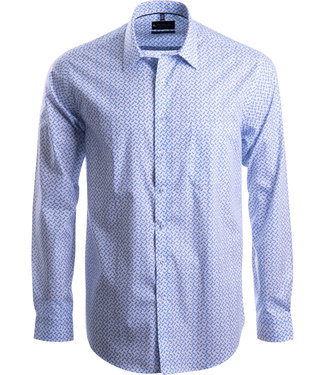 FORMEN smaakvol hemd met turquoise print