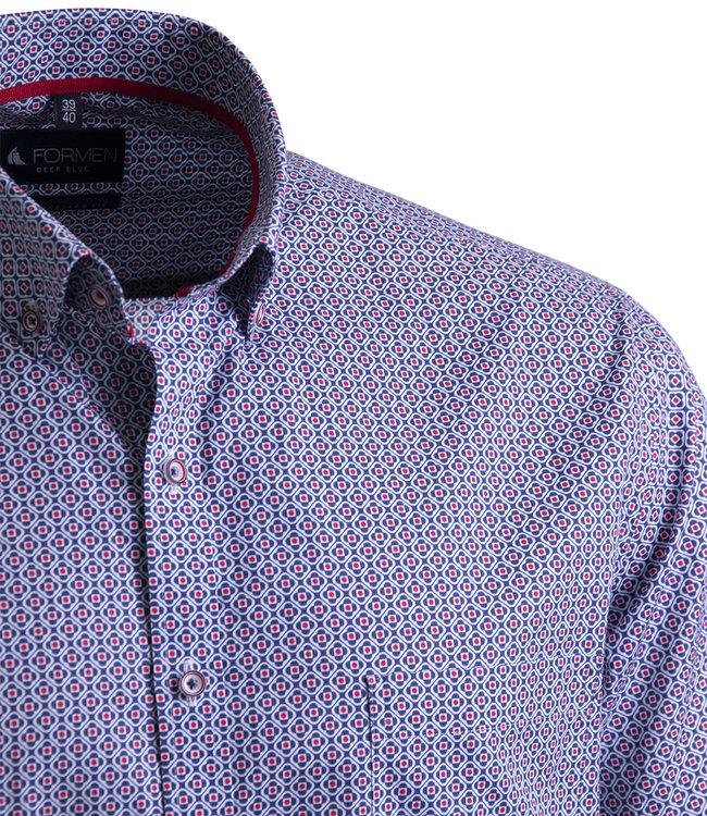FORMEN bont gekleurd hemd met rood detail