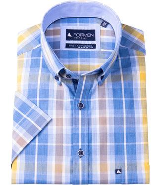 FORMEN geruit hemd met zonnige kleuren