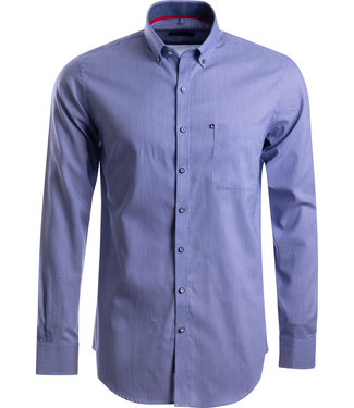 FORMEN fijn gestreept marineblauw hemd