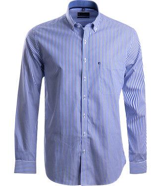 FORMEN blauw en wit gestreept hemd