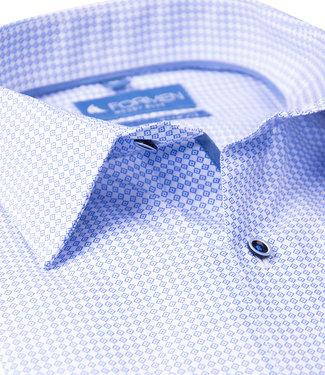 FORMEN slim fit hemd met blauw motief