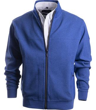 FORMEN sportief blauw vest met full zip