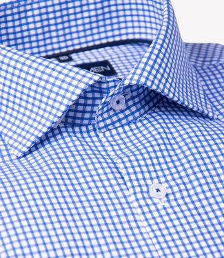 FORMEN keurig blauw geruit hemd