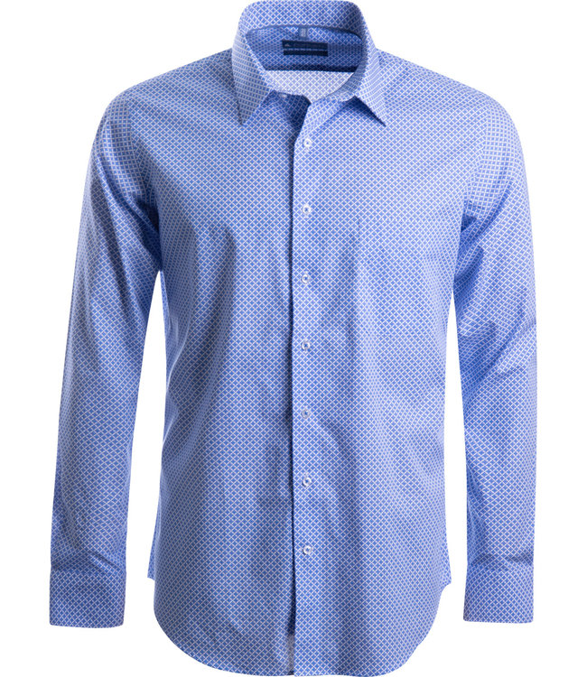 FORMEN knap hemd met diamond dessin