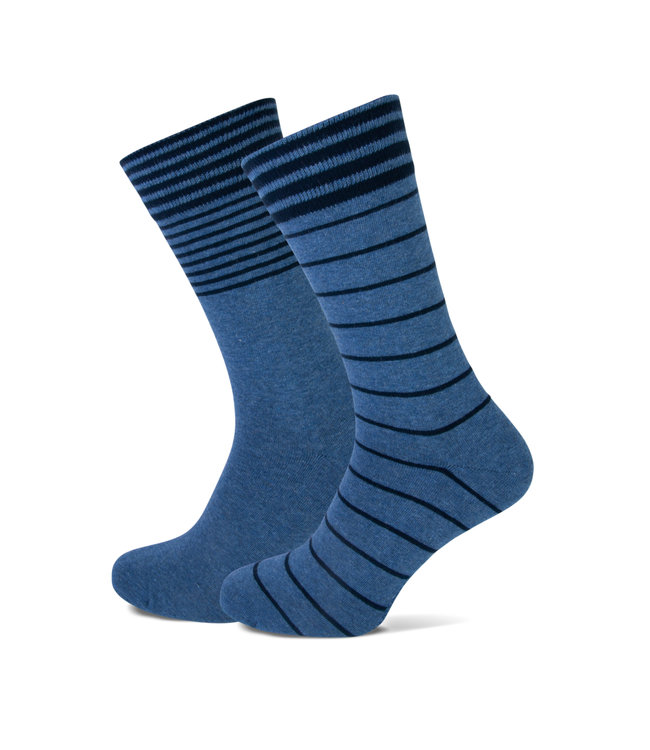FORMEN gestreepte sokken duopack = 2 paar
