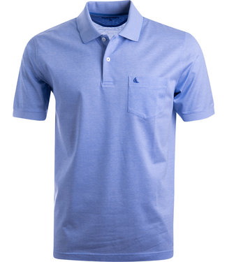 FORMEN lichtblauw poloshirt in soft cotton