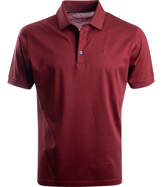 FORMEN polo in jersey katoen brique rood