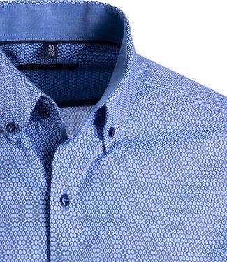 FORMEN hemd met blauw dessin