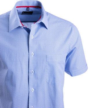 FORMEN zomerhemd met kobaltblauw motief