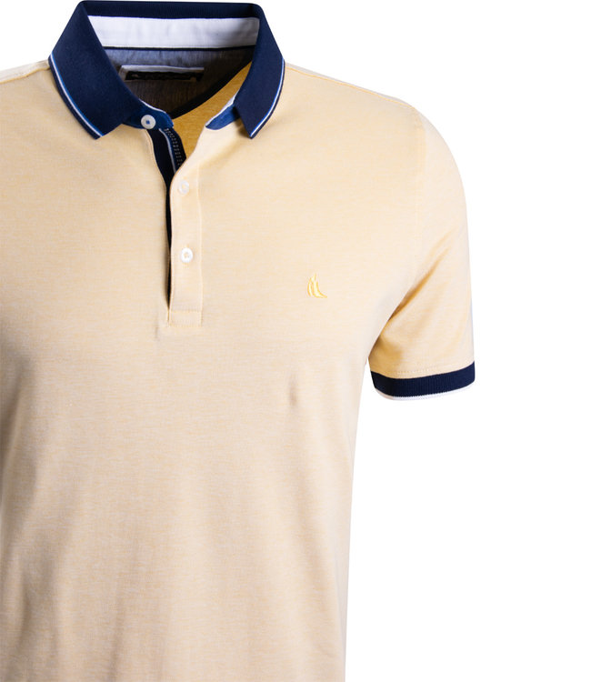 FORMEN casual gele polo