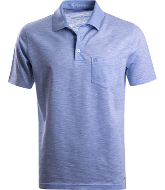 FORMEN lichtblauw poloshirt in soft cotton